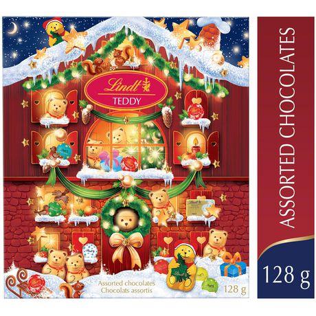lindt teddy advent calendar assorted chocolates walmart canada