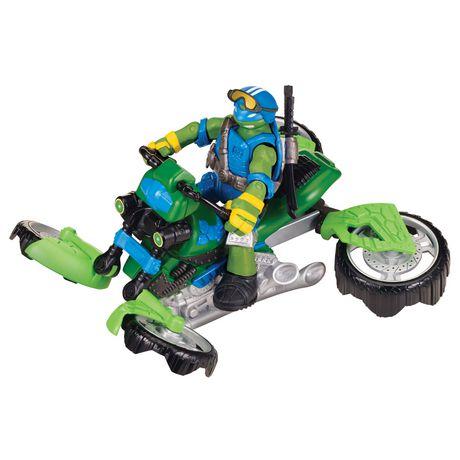 teenage mutant ninja turtles vehicle with figure mutating tri flyer walmartca