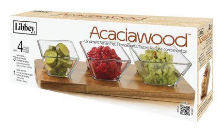 Libbey Acaciawood Condiment Server Set - image 1 of 2