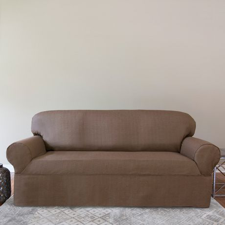 Surefit Bayside One Piece Relaxed Fit Sofa Slipcover Walmart Canada