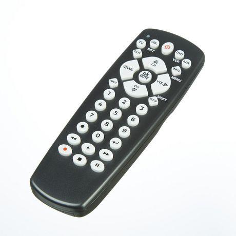 onn control 4 device universal remote walmart canada. Black Bedroom Furniture Sets. Home Design Ideas