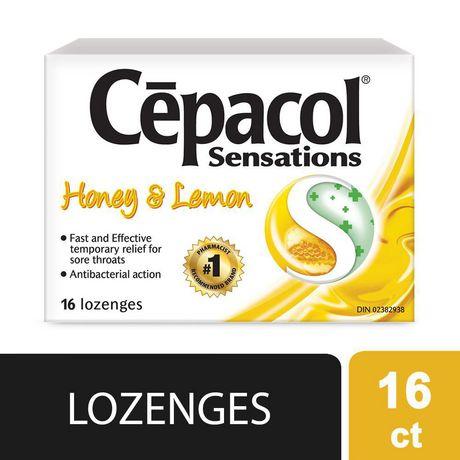 CEPACOL SENSATIONS LOZENGES: Honey Lemon