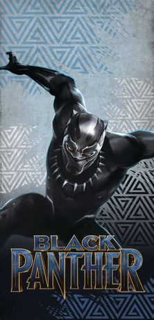 Marvel Black Panther 100% Cotton Beach Towel - image 1 of 1