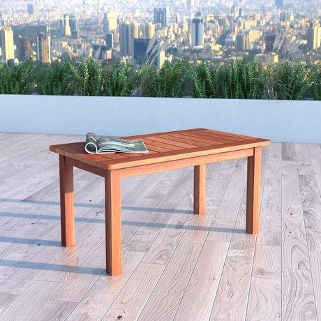 CorLiving PEX 868 T Miramar Cinnamon Brown Hardwood Outdoor Coffee Table |  Walmart Canada