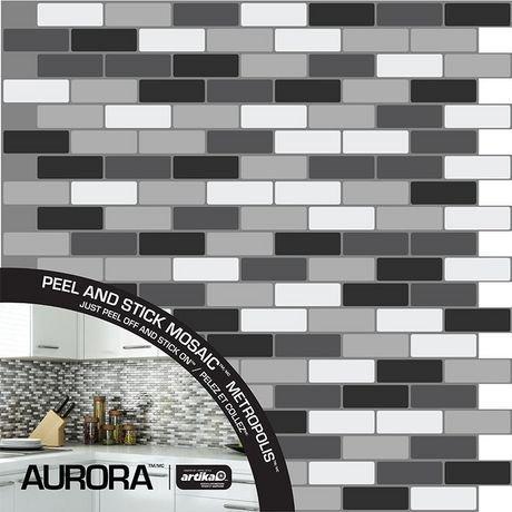 Aurora metropolis peel n 39 stick walmart canada for Peel and stick wallpaper walmart