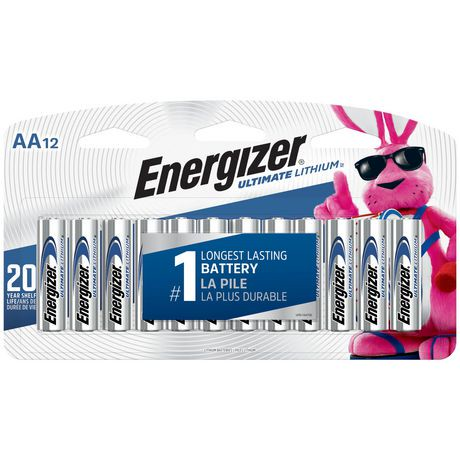 energizer ultimate lithium aa batteries walmart canada. Black Bedroom Furniture Sets. Home Design Ideas