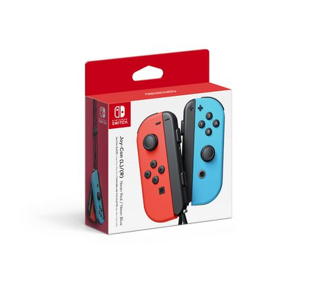 Nintendo Switch Joy-Con (R/L) - Neon Blue & Neon Red - image 1 of 3