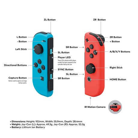 Nintendo Switch Joy-Con (R/L) - Neon Blue & Neon Red - image 3 of 3