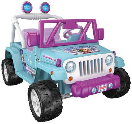 v hicule jeep wrangler la reine des neiges par disney power wheels de fisher price. Black Bedroom Furniture Sets. Home Design Ideas