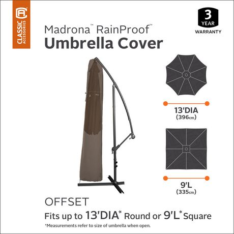 Housse de parasol de patio Madrona RainProof de Classic Accessories - image 2 de 9
