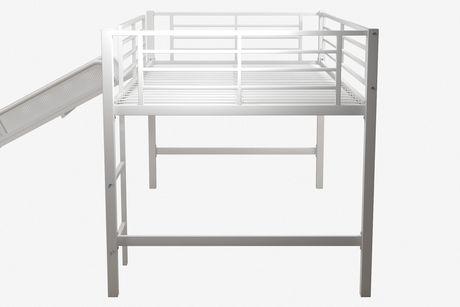DHP Lit mezzanine jumeau avec toboggan pour enfants, blanc - image 3 de 4