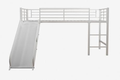 DHP Lit mezzanine jumeau avec toboggan pour enfants, blanc - image 4 de 4