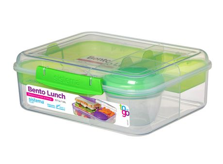 Sistema To Go Collection Bento Box and Food Storage Container, 6.9 Cup, Clear, Assorted Color Klips - image 5 of 7