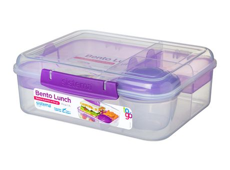 Sistema To Go Collection Bento Box and Food Storage Container, 6.9 Cup, Clear, Assorted Color Klips - image 6 of 7