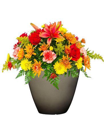 Jardini re d corative hometrends en r sine de 12 po for Jardiniere decorative