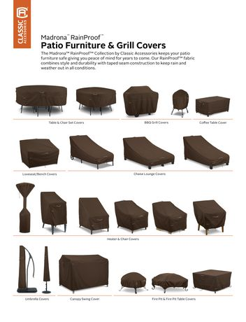 Rainproof Patio Furniture.Classic Accessories Madrona Rainproof Double Wide Patio Chaise Lounge Cover
