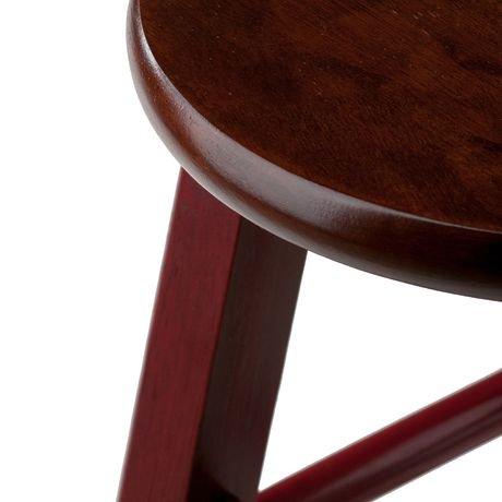 Ivy 24 Quot Counter Stool Rustic Maroon W Walnut Seat