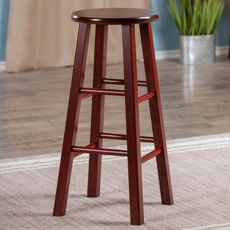 tabouret de bar de 29 po ivy marron rustique avec si ge noyer walmart canada. Black Bedroom Furniture Sets. Home Design Ideas