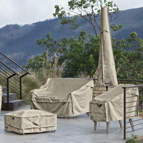 Housse de parasol de patio Montlake FadeSafe de Classic Accessories - Housse robuste pour meuble d'extérieur avec revers imperméable, Petite - image 5 de 9