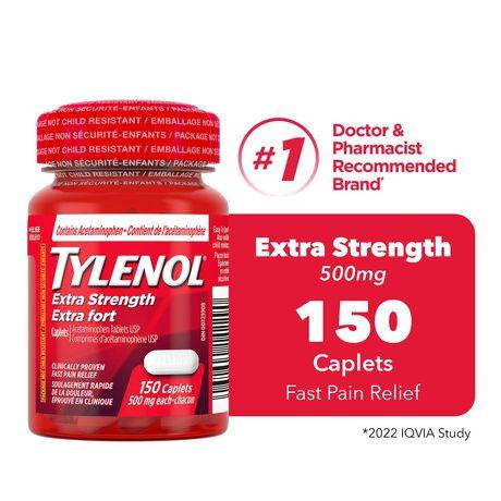 TYLENOL®  Extra fort à 500 mg, 150 caplets - image 1 de 1