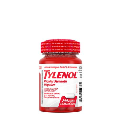 Tylenol® Regular Strength 325mg 200 Caplets Easy to Open (replacs 331254) - image 1 of 1