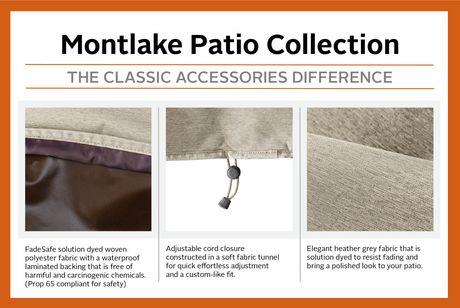 Housse de parasol de patio Montlake FadeSafe de Classic Accessories - Housse robuste pour meuble d'extérieur avec revers imperméable, Petite - image 4 de 9