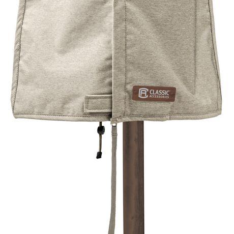 Housse de parasol de patio Montlake FadeSafe de Classic Accessories - Housse robuste pour meuble d'extérieur avec revers imperméable, Petite - image 8 de 9