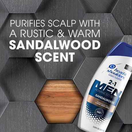 Head and Shoulders Advanced Series Sandalwood 2-in-1 Shampoo and Conditioner for Men - image 3 of 4