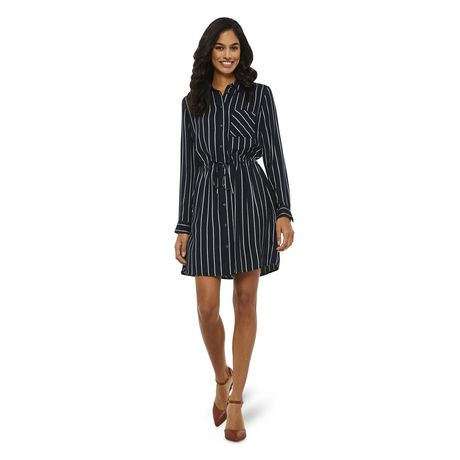 George Women's Striped Shirt Dress - image 1 of 6
