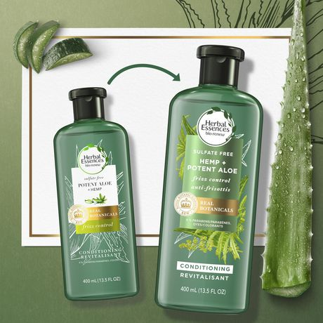 Herbal Essences Potent Aloe + Hemp Conditioner - image 4 of 7