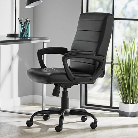 Mainstays Bonded Leather Mid-Back Manager's Office Chair - image 1 of 6