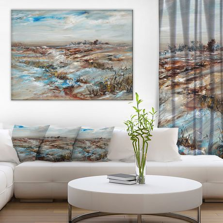 impression sur toile snowy landscape design art walmart canada. Black Bedroom Furniture Sets. Home Design Ideas