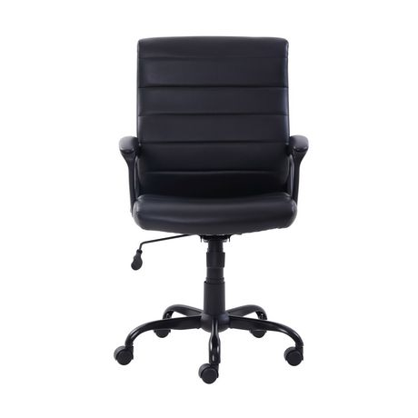 Mainstays Bonded Leather Mid-Back Manager's Office Chair - image 2 of 6