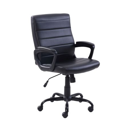 Mainstays Bonded Leather Mid-Back Manager's Office Chair - image 3 of 6