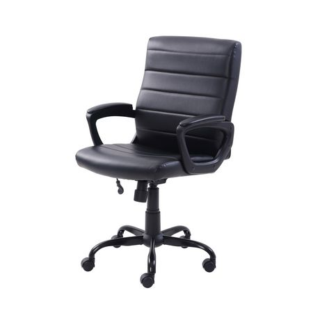 Mainstays Bonded Leather Mid-Back Manager's Office Chair - image 4 of 6