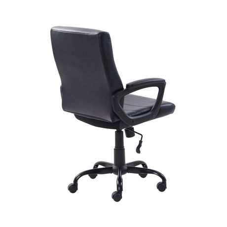 Mainstays Bonded Leather Mid-Back Manager's Office Chair - image 6 of 6