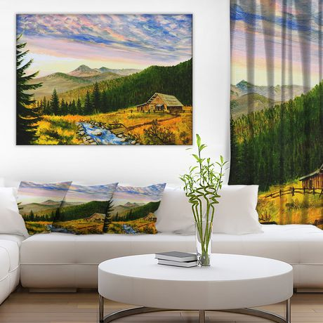 design art sunset in mountains canvas print | walmart canada