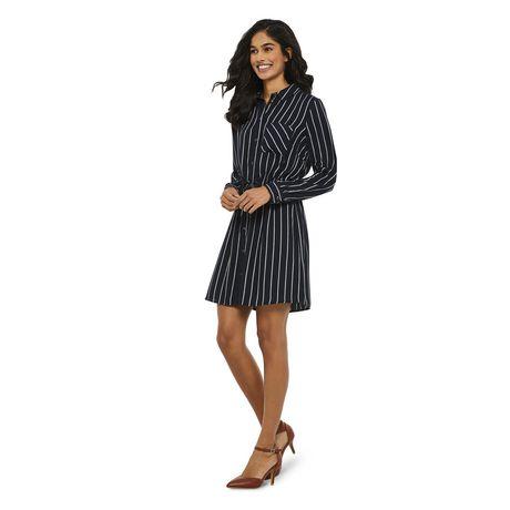 George Women's Striped Shirt Dress - image 2 of 6
