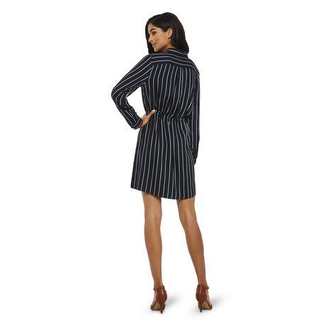 George Women's Striped Shirt Dress - image 3 of 6