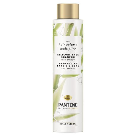 Pantene Nutrient Blends Bamboo Hair Volume Multiplier Silicone Free Shampoo for Fine, Thin Hair - image 1 of 7