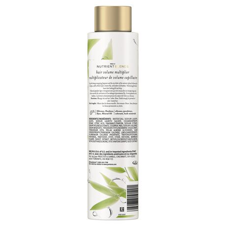 Pantene Nutrient Blends Bamboo Hair Volume Multiplier Silicone Free Shampoo for Fine, Thin Hair - image 2 of 7