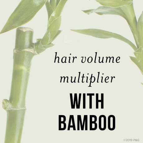 Pantene Nutrient Blends Bamboo Hair Volume Multiplier Silicone Free Shampoo for Fine, Thin Hair - image 4 of 7