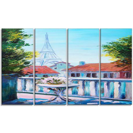 design art paris eiffel tower canvas print   walmart canada