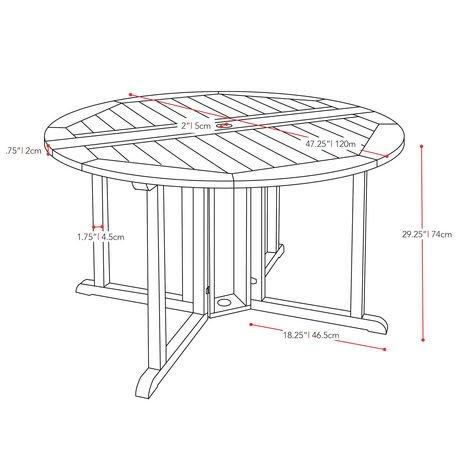 Table pliante de salle manger de hauteur bar miramar pex for Hauteur table salle manger standard