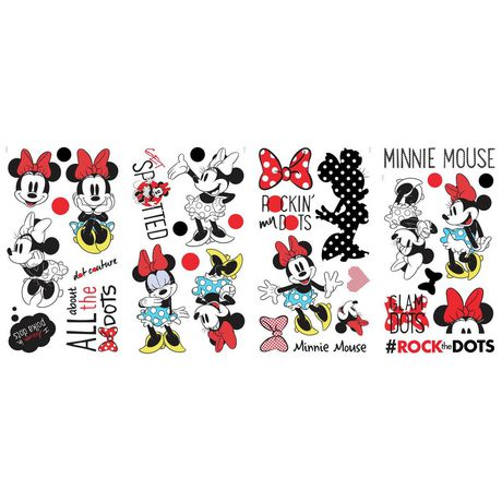 RoomMates Minnie Rocks The Dots Peel And Stick Wall Decals - image 2 of 2