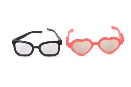 Coral Heart Sunglasses and Blk Nerd Glasses - image 1 of 1