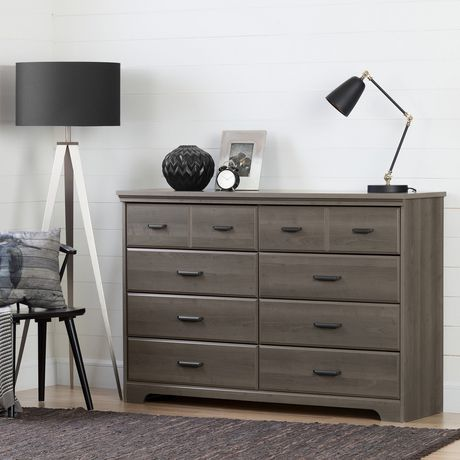 Bureau double 8 tiroirs versa de meubles south shore for Bureau 8 tiroirs