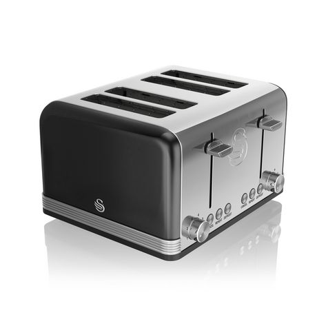 Swan Retro 4 Slice Toaster ST19020BN - image 1 of 5
