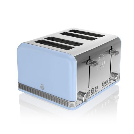 Swan Retro 4 Slice Toaster ST19020BLN - image 1 of 5
