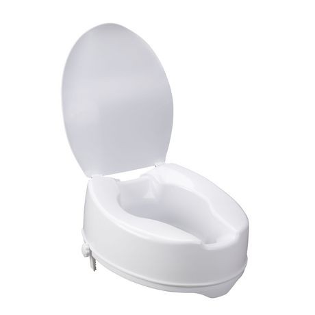 Drive Medical 6 Quot Raised Toilet Seat With Lock And Lid